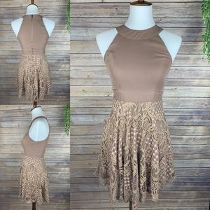 Altr'd State | Chocolate Brown Lace Dress